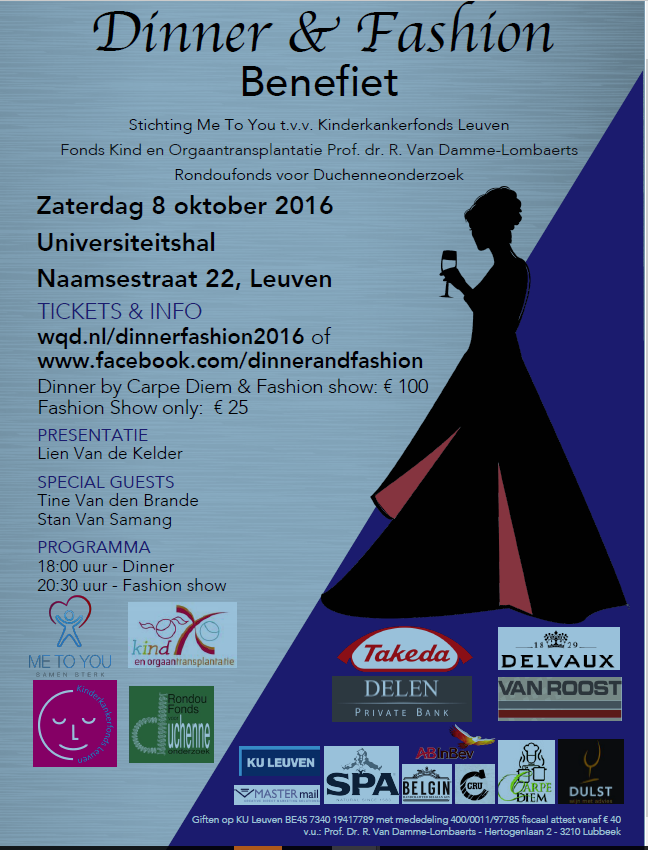 Benefiet Dinner & Fahion 2016
